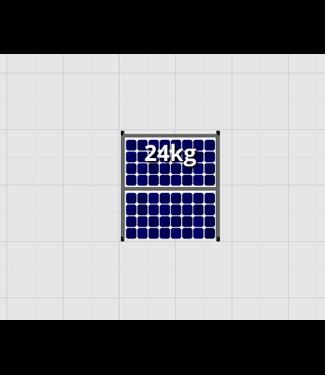 Flatfix Fusion sets Flatfix Fusion set 1 rij van 2 panelen aluminium O/W