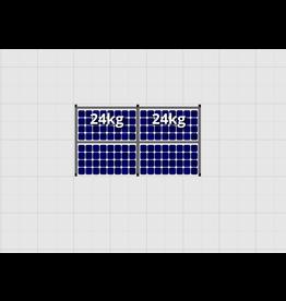 Flatfix Fusion sets Flatfix Fusion set 1 rij van 4 panelen aluminium O/W