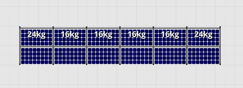 Flatfix Fusion sets Flatfix Fusion set 1 rij van 12 panelen aluminium oost/west
