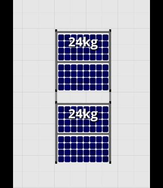 Flatfix Fusion sets Flatfix Fusion set 2 rijen van 2 panelen aluminium O/W