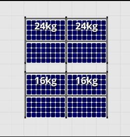 Flatfix Fusion sets Flatfix Fusion set 2 rijen van 4 panelen aluminium O/W