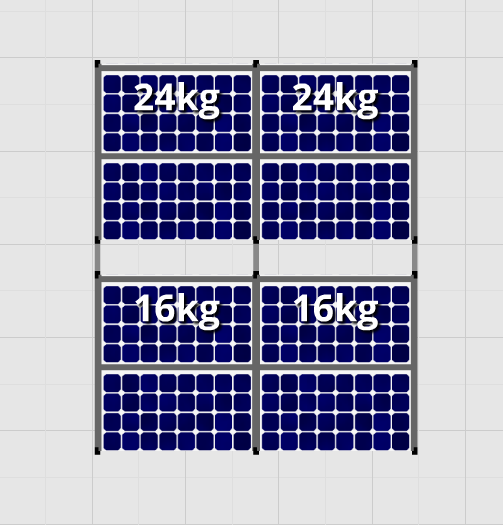 Flatfix Fusion sets Flatfix Fusion set 2 rijen van 4 panelen aluminium oost/west