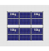 Flatfix Fusion sets Flatfix Fusion set 2 rijen van 6 panelen aluminium oost/west