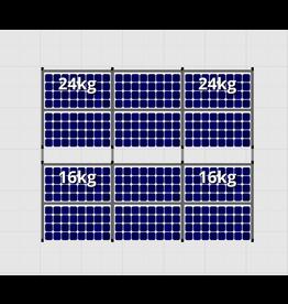 Flatfix Fusion sets Flatfix Fusion set 2 rijen van 6 panelen aluminium O/W