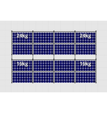 Flatfix Fusion sets Flatfix Fusion set 2 rijen van 8 panelen aluminium oost/west