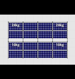 Flatfix Fusion sets Flatfix Fusion set 2 rijen van 8 panelen aluminium O/W