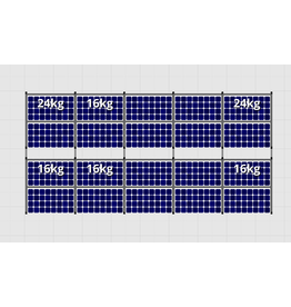 Flatfix Fusion sets Flatfix Fusion set 2 rijen van 10 panelen aluminium O/W