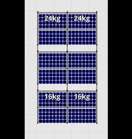 Flatfix Fusion sets Flatfix Fusion set 3 rijen van 4 panelen aluminium O/W