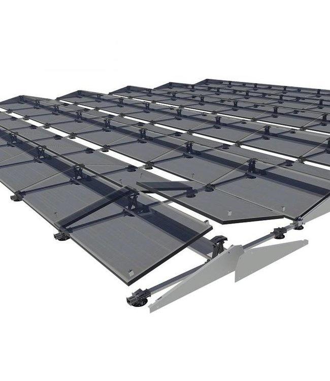 Flatfix Fusion sets Flatfix Fusion set 3 rijen van 6 panelen aluminium oost/west
