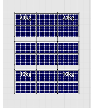 Flatfix Fusion sets Flatfix Fusion set 3 rijen van 6 panelen aluminium O/W