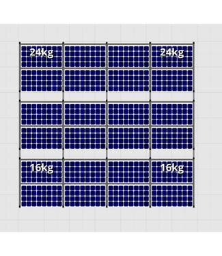 Flatfix Fusion sets Flatfix Fusion set 3 rijen van 8 panelen aluminium O/W