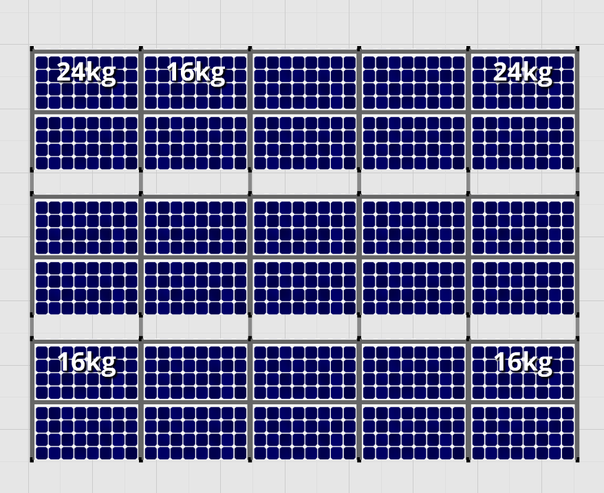 Flatfix Fusion sets Flatfix Fusion set 3 rijen van 10 panelen aluminium oost/west