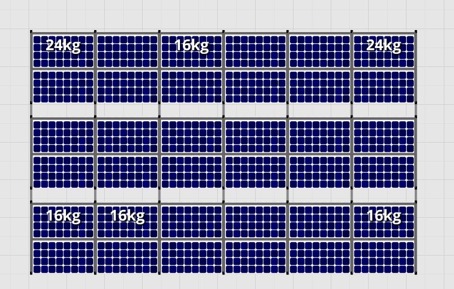 Flatfix Fusion sets Flatfix Fusion set 3 rijen van 12 panelen aluminium oost/west