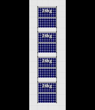Flatfix Fusion sets Flatfix Fusion set 4 rijen van 2 panelen aluminium O/W