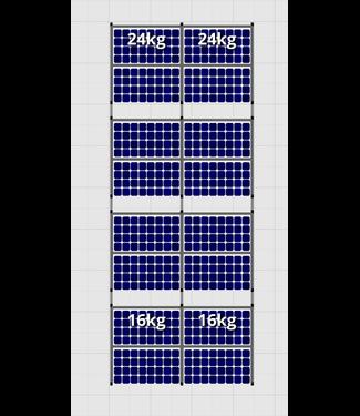 Flatfix Fusion sets Flatfix Fusion set 4 rijen van 4 panelen aluminium O/W