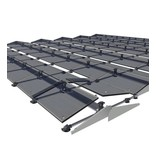 Flatfix Fusion sets Flatfix Fusion set 4 rijen van 6 panelen aluminium oost/west