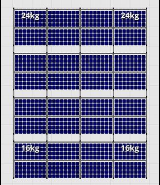 Flatfix Fusion sets Flatfix Fusion set 4 rijen van 8 panelen aluminium O/W