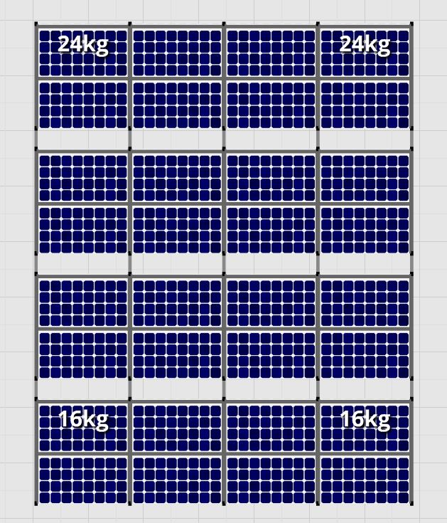 Flatfix Fusion sets Flatfix Fusion set 4 rijen van 8 panelen aluminium oost/west