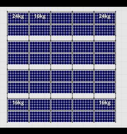 Flatfix Fusion sets Flatfix Fusion set 4 rijen van 10 panelen aluminium O/W