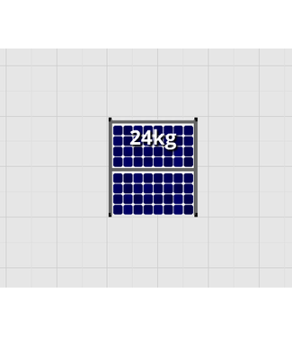 Flatfix Fusion sets Flatfix Fusion set 1 rij van 2 panelen zwart O/W