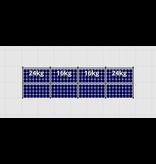 Flatfix Fusion sets Flatfix Fusion set 1 rij van 8 panelen zwart oost/west