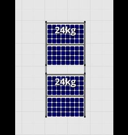 Flatfix Fusion sets Flatfix Fusion set 2 rijen van 2 panelen zwart O/W