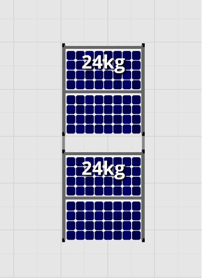 Flatfix Fusion sets Flatfix Fusion set 2 rijen van 2 panelen zwart oost/west