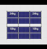 Flatfix Fusion sets Flatfix Fusion set 2 rijen van 6 panelen zwart oost/west