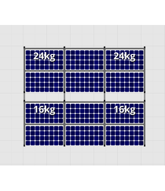 Flatfix Fusion sets Flatfix Fusion set 2 rijen van 6 panelen zwart O/W