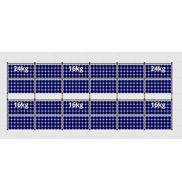 Flatfix Fusion sets Flatfix Fusion set 2 rijen van 12 panelen zwart O/W