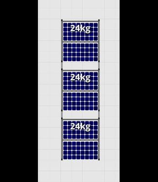 Flatfix Fusion sets Flatfix Fusion set 3 rijen van 2 panelen zwart O/W