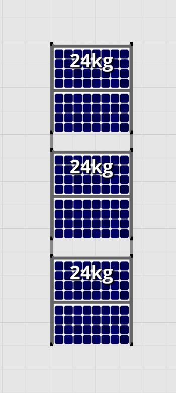 Flatfix Fusion sets Flatfix Fusion set 3 rijen van 2 panelen zwart oost/west