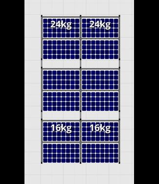 Flatfix Fusion sets Flatfix Fusion set 3 rijen van 4 panelen zwart O/W