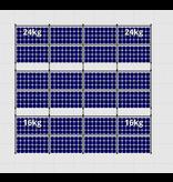 Flatfix Fusion sets Flatfix Fusion set 3 rijen van 8 panelen zwart oost/west