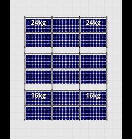 Flatfix Fusion sets Flatfix Fusion set 3 rijen van 6 panelen zwart