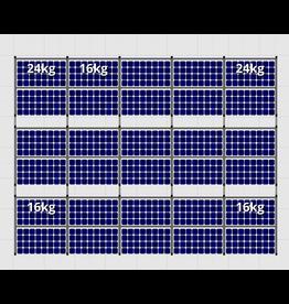 Flatfix Fusion sets Flatfix Fusion set 3 rijen van 10 panelen zwart