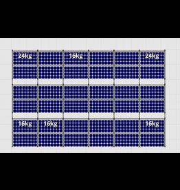 Flatfix Fusion sets Flatfix Fusion set 3 rijen van 12 panelen zwart