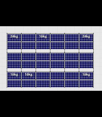 Flatfix Fusion sets Flatfix Fusion set 3 rijen van 12 panelen zwart O/W