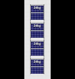 Flatfix Fusion sets Flatfix Fusion set 4 rijen van 2 panelen zwart O/W
