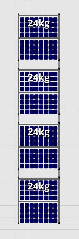Flatfix Fusion sets Flatfix Fusion set 4 rijen van 2 panelen zwart oost/west
