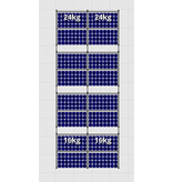 Flatfix Fusion sets Flatfix Fusion set 4 rijen van 4 panelen zwart oost/west