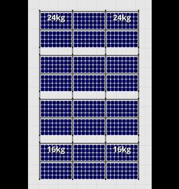 Flatfix Fusion sets Flatfix Fusion set 4 rijen van 6 panelen zwart O/W