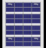 Flatfix Fusion sets Flatfix Fusion set 4 rijen van 8 panelen zwart oost/west