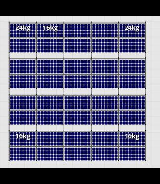 Flatfix Fusion sets Flatfix Fusion set 4 rijen van 10 panelen zwart O/W