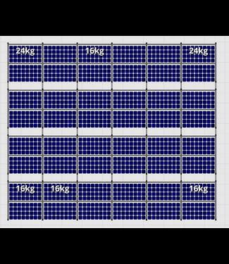 Flatfix Fusion sets Flatfix Fusion set 4 rijen van 12 panelen zwart O/W