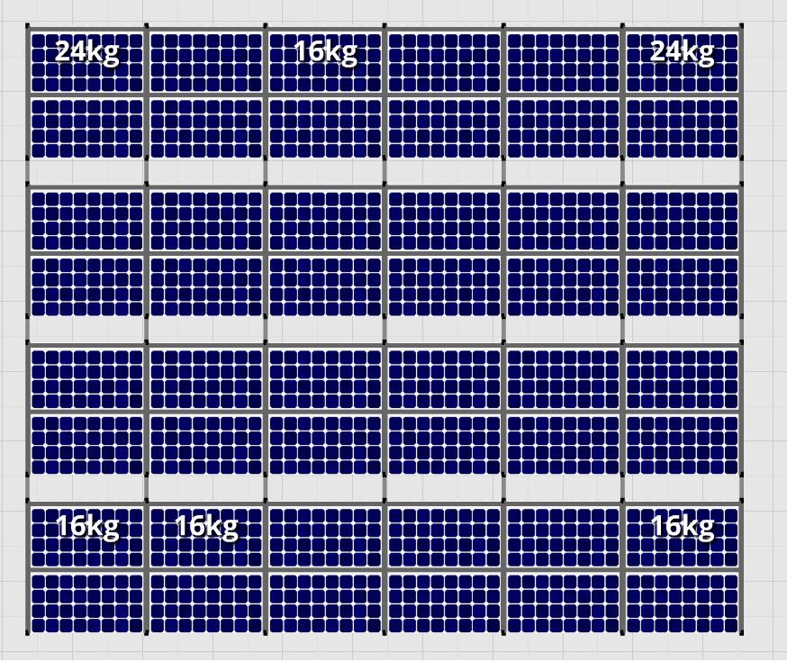 Flatfix Fusion sets Flatfix Fusion set 4 rijen van 12 panelen zwart oost/west