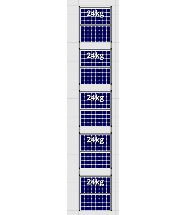 Flatfix Fusion sets Flatfix Fusion set 5 rijen van 2 panelen zwart O/W
