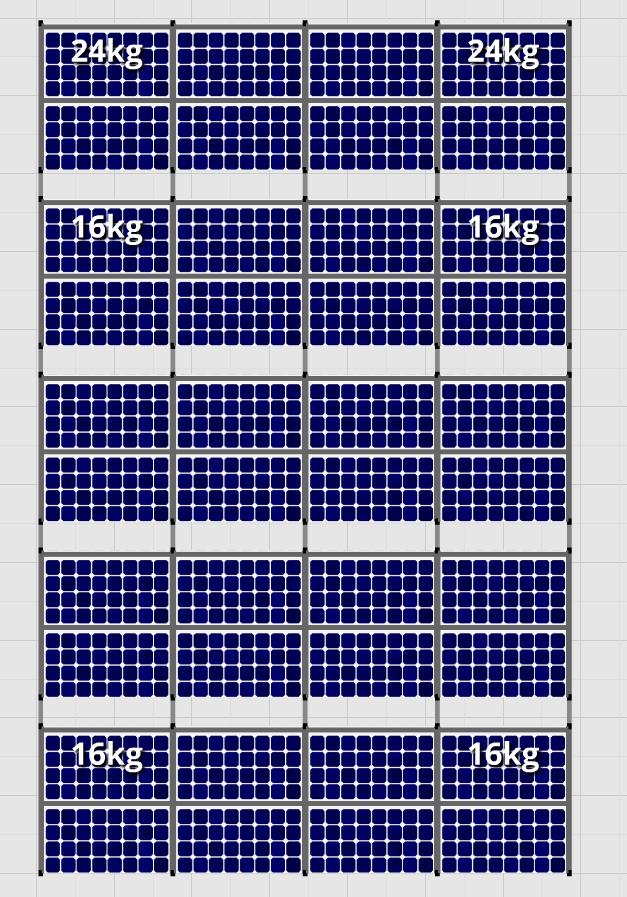 Flatfix Fusion sets Flatfix Fusion set 5 rijen van 8 panelen zwart oost/west