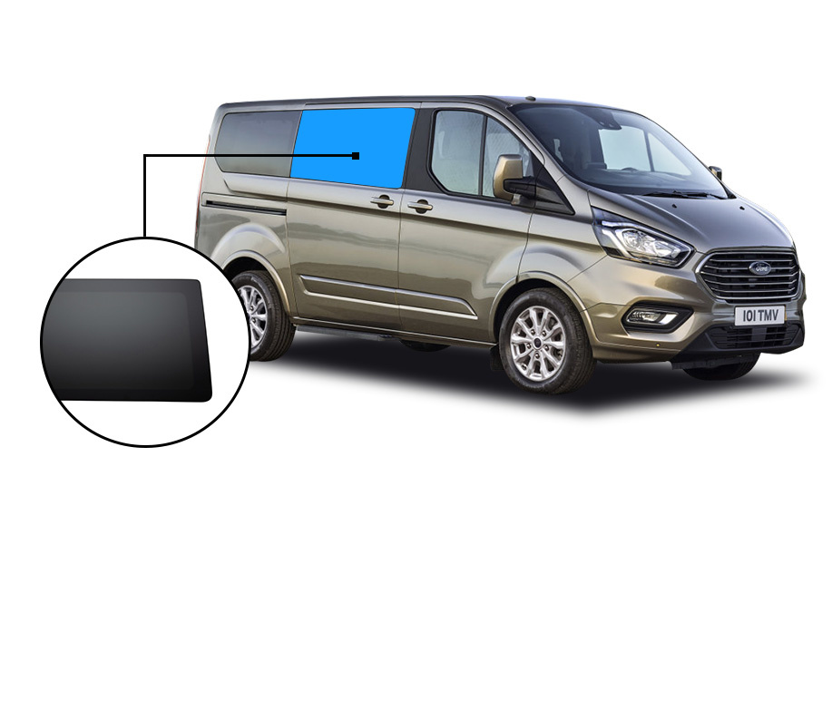 Ford Ford Transit Custom Vast Zijraam Privacy