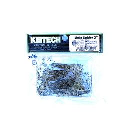 Keitech Keitech - Little Spider - 5cm - Silver Shad - 8 stuks